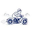 Cartoon biker ride vector image
