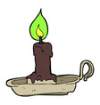 Comic cartoon spooky candlestick vector image