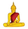 Decorative buddha statue vector image