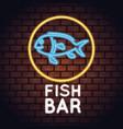 fish bar neon lights vector image