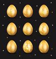golden egg icon vector image