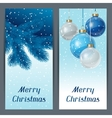 Holiday vertical banners template with christmas vector image