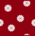 seamless pattern with a snowflake vector image