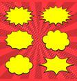 speech cloud set vector image