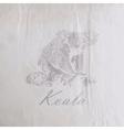 vintage of a koala bear on the old wrinkled paper vector image