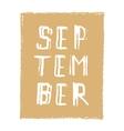 September card Hand drawn modern grunge vector image