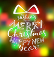Merry Christmas Card Holiday vector image vector image