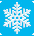 3d isometric snowflake icon vector image vector image