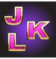pink letters with gold vector image