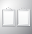 Picture Frames White Vertical vector image vector image