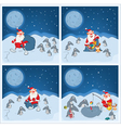 Adventures of Santa Claus and penguins vector image vector image