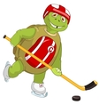 Funny Turtle Hockey Player vector image vector image