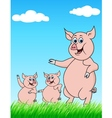 pig family vector image vector image