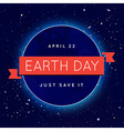 Earth Day Eco Day vector image