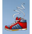 Trendy sneaker vector image