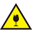 broken glass warning sign vector image