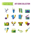 Holiday icons Set of art theater and music flat vector image