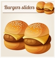 Kids burgers sliders Detailed icon vector image