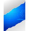 Modern folder - technology concept vector image