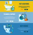 plumbing works toilet bathroom and kitchen water vector image