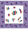 rainbow vegetables vector image