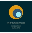 retro circle corporate identity vector image