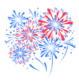 holiday festival firework vector image
