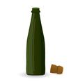 Open green bottle vector image vector image