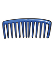 A blue comb vector image vector image