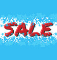 winter sale poster with sale text advertising vector image
