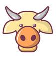 cow head icon cartoon style vector image