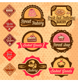baked goods design elements vector image vector image