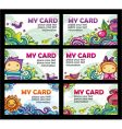 colorful cards vector image vector image