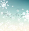 Christmas background with snowflakes blurred in th vector image vector image