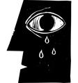 Crying Eye vector image vector image