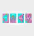 Abstract backgrounds liquid objects set of vector image