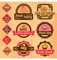 baked goods design elements vector image