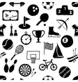 doodle sport seamless pattern vector image