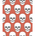Human skull tribal style seamless pattern hand vector image