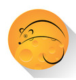 mouse cheese vector image
