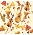 Music instruments seamless pattern vector image