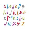 Script handwritten font alphabet letters vector image