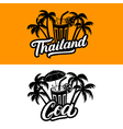 Set of Thailand and Goa hand written lettering vector image
