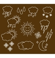 Set thin and clean outline weather vector image