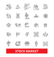 stock market wall street exchange investment vector image