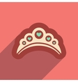 Flat web icon with long shadow diadem vector image