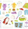tennis pattern seamless vector image