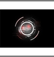 Technological abstract red light clock interface vector image