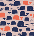 Cute pattern with whales vector image