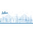 Outline Lisbon city skyline vector image